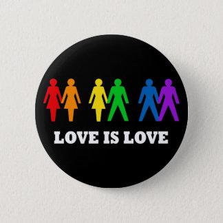 Badge Rond 5 Cm L'amour est amour