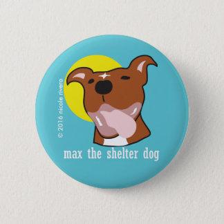 """Badge Rond 5 Cm Langue maximum 2 1/4"""" heureux bouton"""