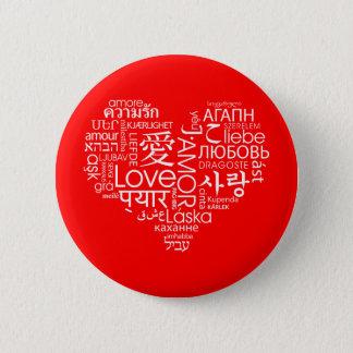 Badge Rond 5 Cm Langues de coeur d'amour