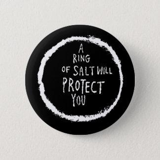 Badge Rond 5 Cm L'anneau du sel vous protégera !