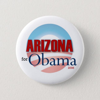 Badge Rond 5 Cm L'Arizona pour Obama