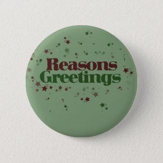 Badge Rond 5 Cm L'athée raisonne des salutations