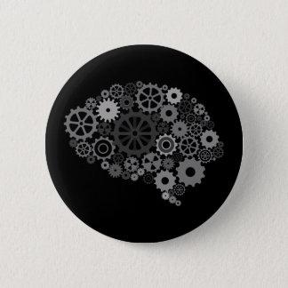 Badge Rond 5 Cm Le cerveau embraye le bouton