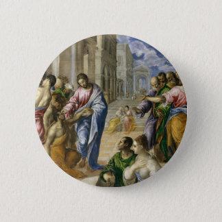 Badge Rond 5 Cm Le Christ guérissant les aveugles