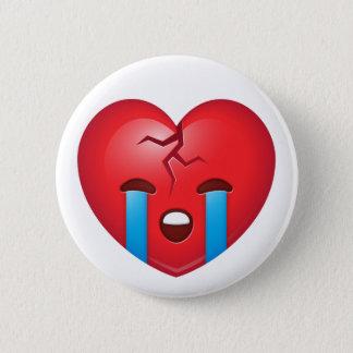Badge Rond 5 Cm Le coeur brisé Emoji