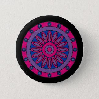 Badge Rond 5 Cm Le drapeau bisexuel de fierté colore le mandala