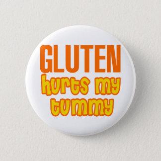 Badge Rond 5 Cm Le gluten blesse mon ventre