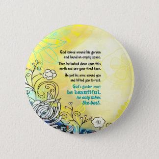 Badge Rond 5 Cm Le jardin de Dieu