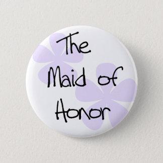Badge Rond 5 Cm Le lilas fleurit la domestique de l'honneur