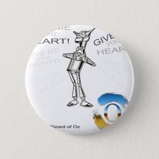 Badge Rond 5 Cm Le magicien d'Oz - étain woodnan - illustration