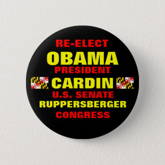 Badge Rond 5 Cm Le Maryland pour Obama Cardin Ruppersberger