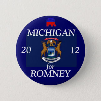 Badge Rond 5 Cm Le Michigan pour Romney 2012