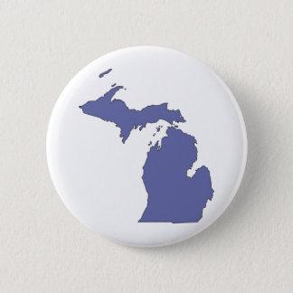 Badge Rond 5 Cm Le Michigan : Un état BLEU