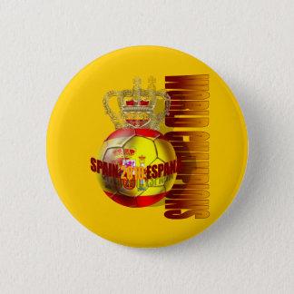 Badge Rond 5 Cm Le monde soutient le football 2010 de l'Espagne