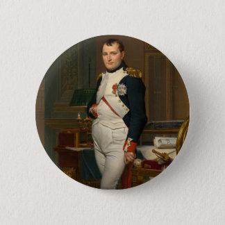 Badge Rond 5 Cm Le napoléon d'empereur dans son étude chez le