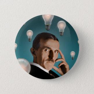 Badge Rond 5 Cm Le rêve de Tesla