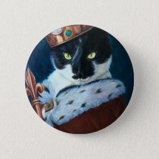Badge Rond 5 Cm Le Roi royal Ted de Kitty