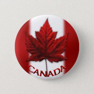 Badge Rond 5 Cm Le souvenir du Canada boutonne le Pin de feuille