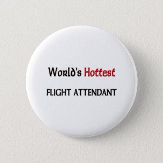 Badge Rond 5 Cm Le steward (hôtesse de l'air) le plus chaud des
