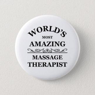 Badge Rond 5 Cm Le thérapeute du massage le plus extraordinaire du