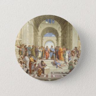 Badge Rond 5 Cm L'école de Raphael d'Athènes