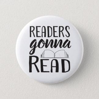 Badge Rond 5 Cm Lecteurs allant lire