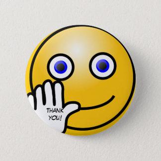 Badge Rond 5 Cm L'émoticône de ondulation vous remercient !