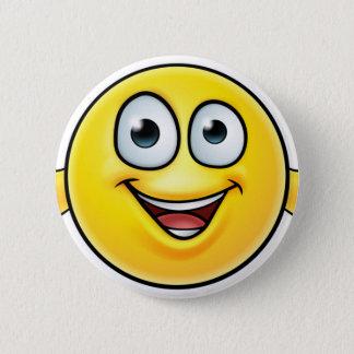Badge Rond 5 Cm L'émoticône manie maladroitement vers le haut de
