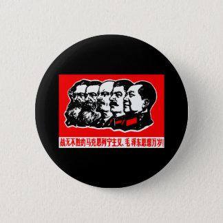 Badge Rond 5 Cm Lénine Marx Mao Zedong