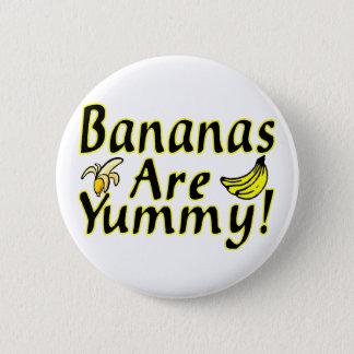 Badge Rond 5 Cm Les bananes sont délicieuses