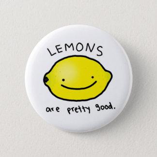 Badge Rond 5 Cm Les citrons sont insigne assez bon (le bouton)