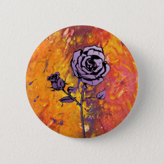 Badge Rond 5 Cm Les roses sont pourpres