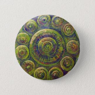 Badge Rond 5 Cm Les roues (symbolisme géométrique religieux)