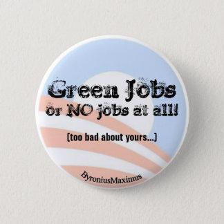 Badge Rond 5 Cm Les travaux verts MAINTENANT !