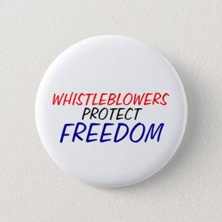 Badge Rond 5 Cm Les Whistleblowers protègent la liberté