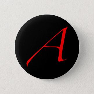 Badge Rond 5 Cm Lettre d'écarlate