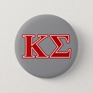 Badge Rond 5 Cm Lettres de rouge de sigma de Kappa