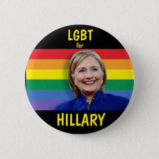 Badge Rond 5 Cm LGBT pour Hillary Clinton
