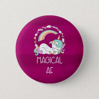 Badge Rond 5 Cm Licorne drôle indiquant l'AF magique