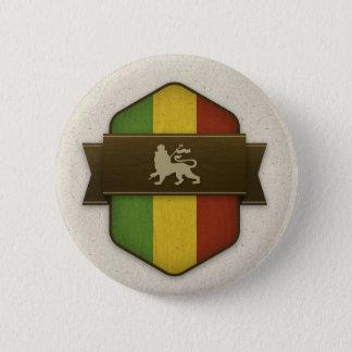 Badge Rond 5 Cm Lion de bouclier de Judah Rasta