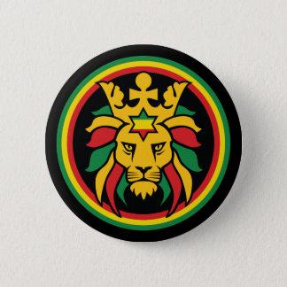 Badge Rond 5 Cm Lion de Rastafari Dreadlocks de Judah