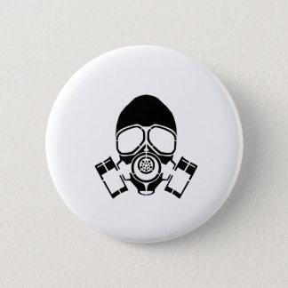 Badge Rond 5 Cm logo de pochoir de masque de gaz