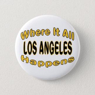 Badge Rond 5 Cm Los Angeles se produit