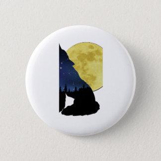 Badge Rond 5 Cm Loup appelle