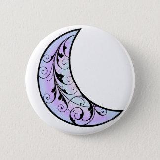 Badge Rond 5 Cm Lune cosmique de chat