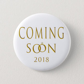 Badge Rond 5 Cm M. et Mme Coming Soon 2018