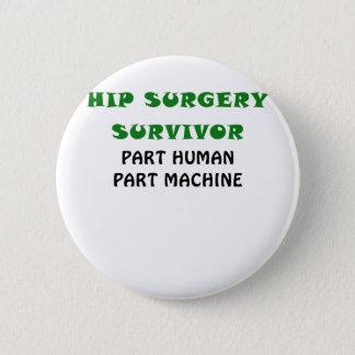 Badge Rond 5 Cm Machine humaine de pièce de pièce de survivant de