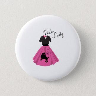 Badge Rond 5 Cm Madame rose