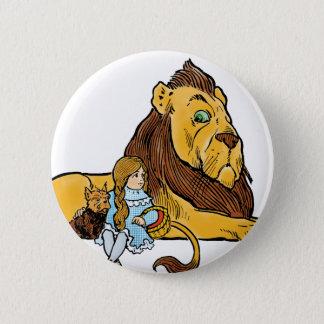 Badge Rond 5 Cm Magicien d'Oz vintage, Dorothy et Toto avec le