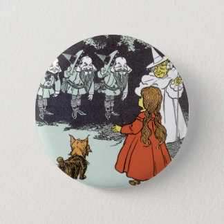 Badge Rond 5 Cm Magicien d'Oz vintage Dorothy Toto Glinda